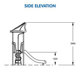 Capital Unit Play Tower with Slide