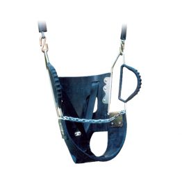 Full bucket toddler swing seat with handles from Moduplay's range of playground swing seats