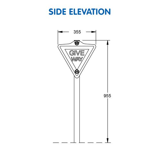 Give Way Sign G-9908 - 02