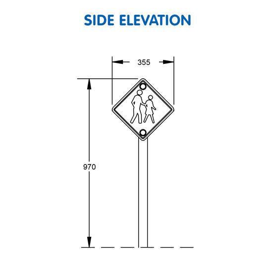 Pedestrian Sign G-9915 - 08