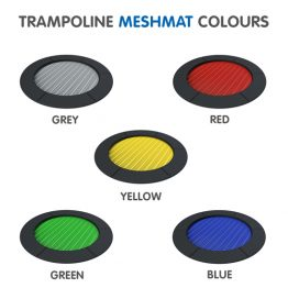 Moduplay's range of trampoline mesh mat colours