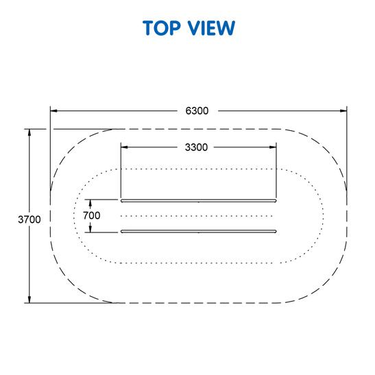 Long Parallel Bars – UrbanFiT Trekko UFT- 3605