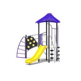Capital Unit Play Tower With Slide & Climbing Challenges