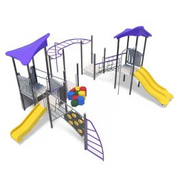 Play towers with monkey bars from Moduplay's range of playground systems