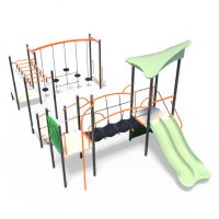 Combination of obstacles with tower from Modupaly's range of playground systems