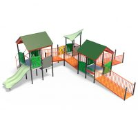 Large toddler's play system with play panels from Moduplay's range of playground systems