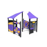 Multi playhouses from Moduplay's range of playground systems