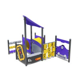 Play house with car play panel from Moduplay's range of playground systems