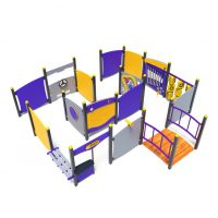 Interactive panel maze from Moduplay's range of playground systems