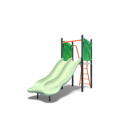 A double plastic slide from Moduplay's playground slides range