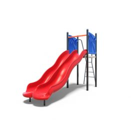 The double plastic slides set from Moduplay's playground slides range