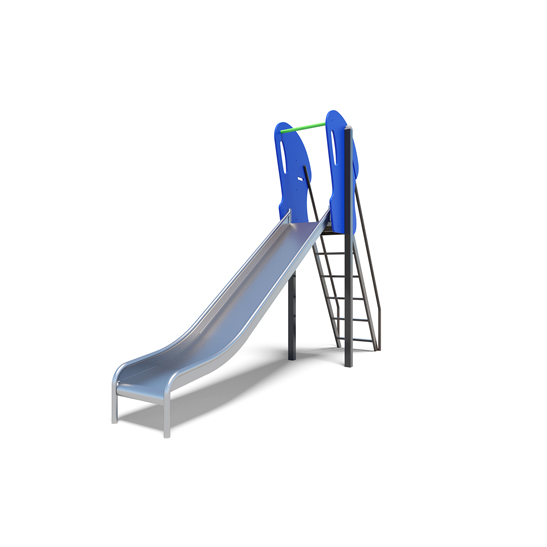 the stainless steel slide from the playground slides range by Moduplay