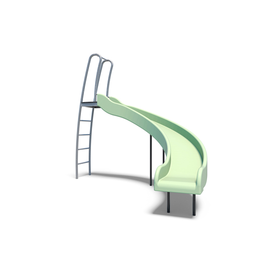 The compact plastic slide from Moduplay's playground slides rang