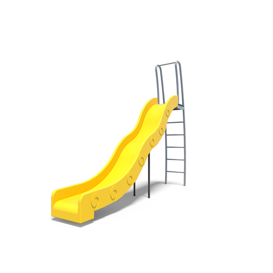 The yellow turbo slide from Moduplay's playground slides range