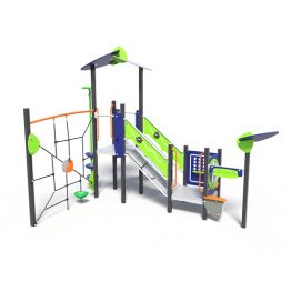 Play tower with rope climb, a play system from Moduplay