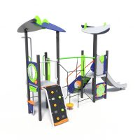 Play tower with rope climb, a play system from Modulay