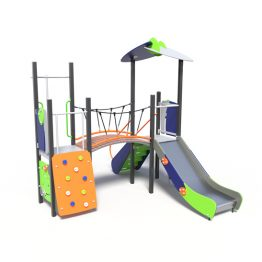 Play tower with bridge, a playground system from Moduplay
