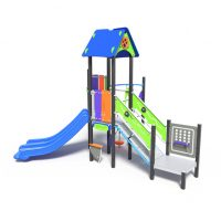 Single tower with dual slide, a play system from Moduplay