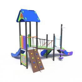 Play tower with ramp climber, a play system from Moduplay