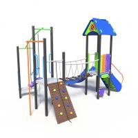 Climb and balance play tower, a playground system from Moduplay.
