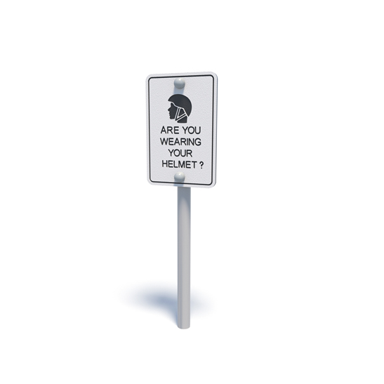 Pretend safety sign from Moduplay's range of themed playground equipment
