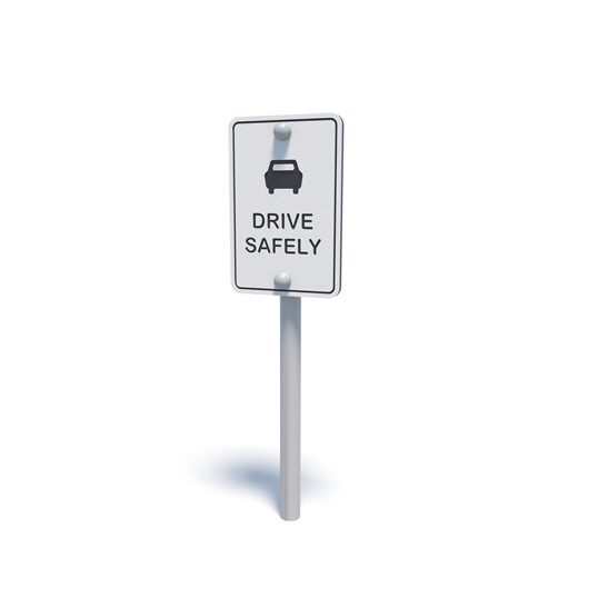 Pretend road safety sign from Moduplay's range of themed playground equipment