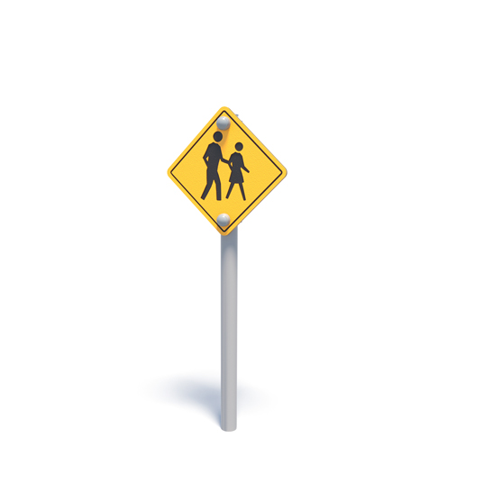 Pretend pedestrian crossing road sign from Moduplay's range of themed playground equipment