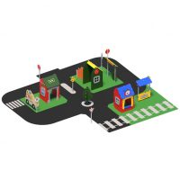 Large pretend town from Moduplay's range of themed playground equipment
