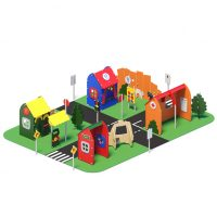 Pretend city from Moduplay's range of themed playground equipment