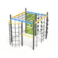 The climbing cube, a climbing play system from Moduplay