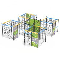 Five climbing cubes, a playground climbing system from Moduplay