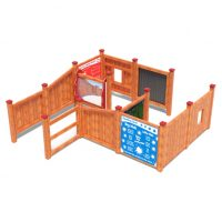 Playground maze with games from Moduplay's range of sensory play equipment