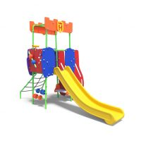 Toddler's tower with slide from Moduplay's range of play systems