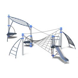 Rope climb and slide play system from Moduplay's range of playground equipment