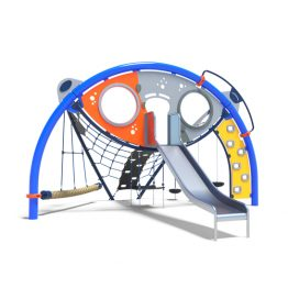 Toddler's climbing dome with slide from Moduplay's range of playground domes
