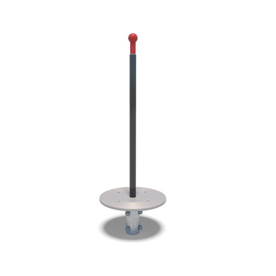 Straight pole spinning twister playground equipment from Moduplay.