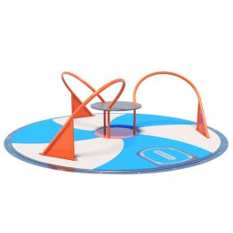 The spinning carousel, playground equipment by Moduplay.