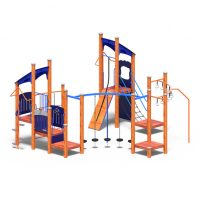 Obstacle play system from Moduplay's range of wood playground systems