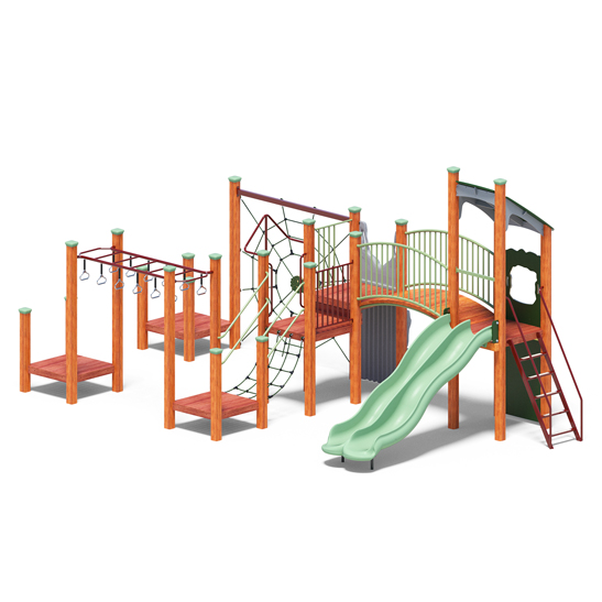 Multi-tower system from Modyplay's range of wood playground systems
