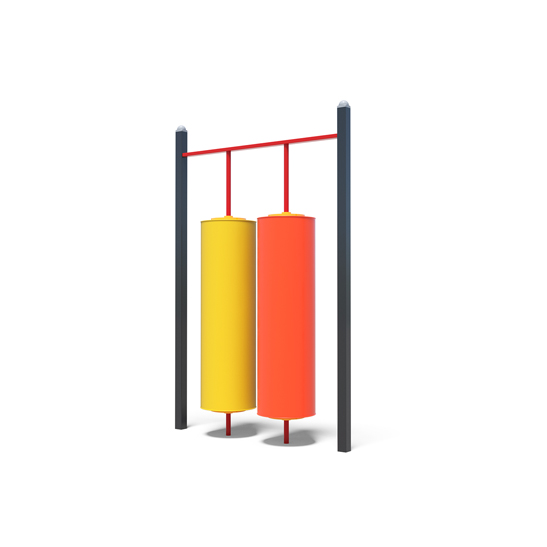 Two playground cylinders from Moduplay's range of sensory play equipment