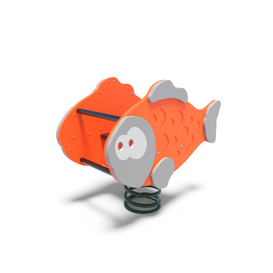 Fish rocker from Moduplay's range of playground spring rockers