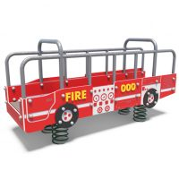 Large firetruck spring rocker from Moduplay's range of playground rockers