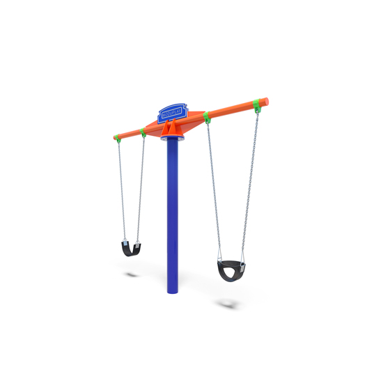 Double tee swing from Moduplay's range of playground swings