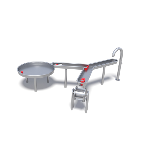 Water table and wheel from Moduplay's sand and water play equipment range