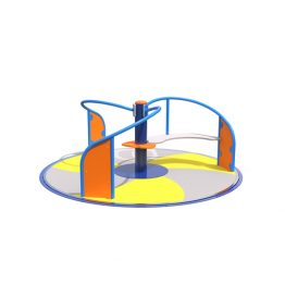 All access carousel from Moduplay's range of playground equipment.