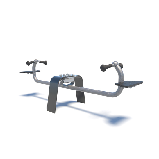 Seesaw with bench seats and handles from Moduplay's range of playground spring rockers