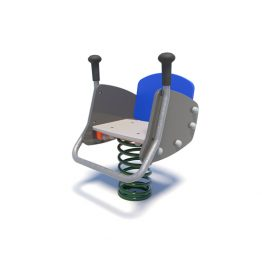 Excavator rocker with handles from Moduplay's range of playground spring rockers