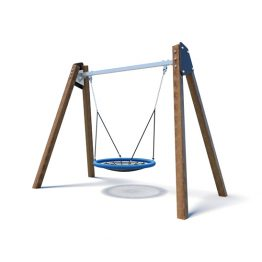 Wooden A-frame nest swing from Moduplay's range of playground swings
