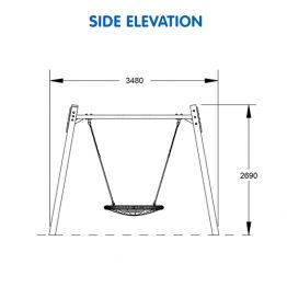 Premium Timber Panel Nest Swing