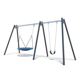 Two-seater next swing set from Moduplay's range of playground swings